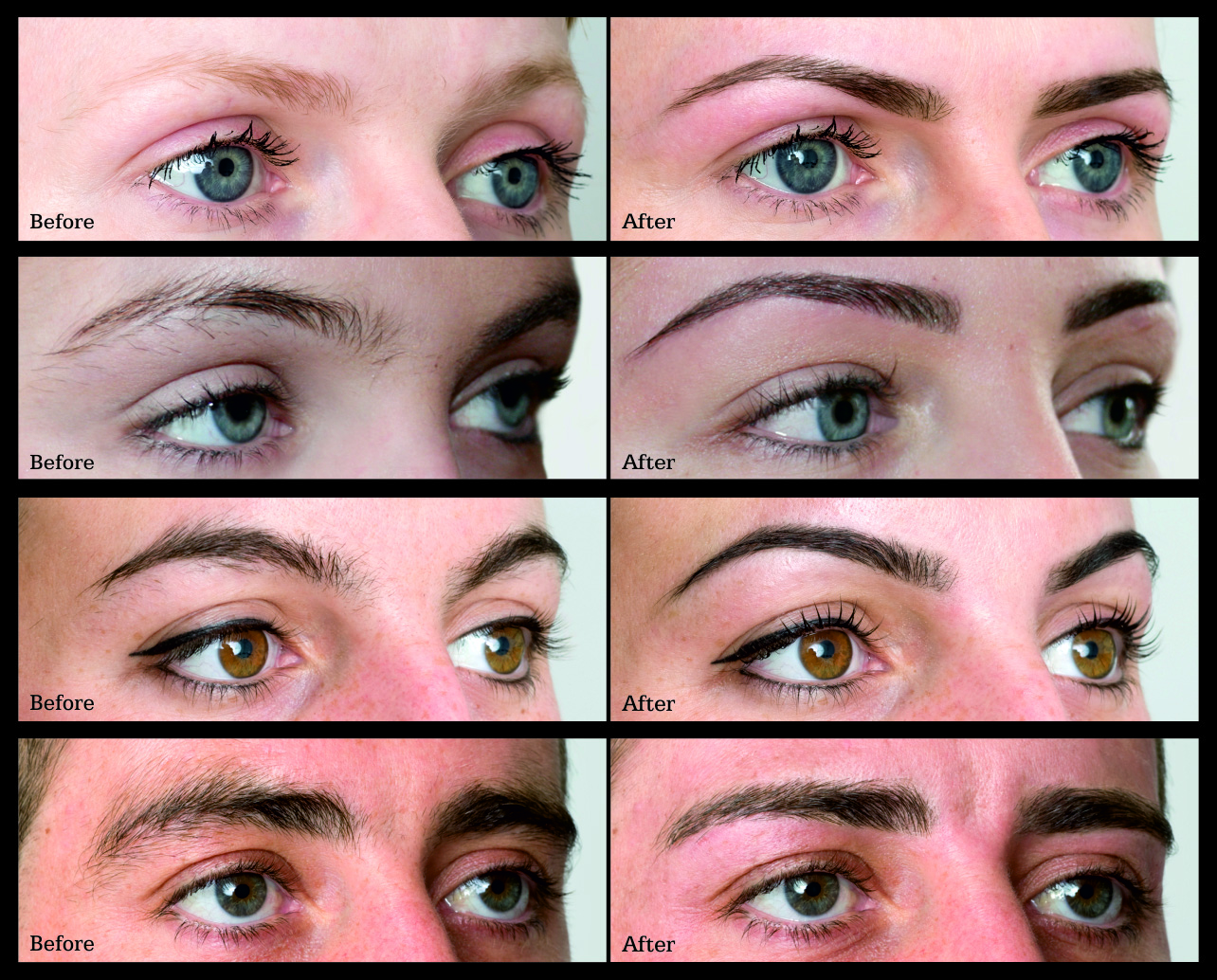 Before and after…defining your natural beauty with HD Brows ® .