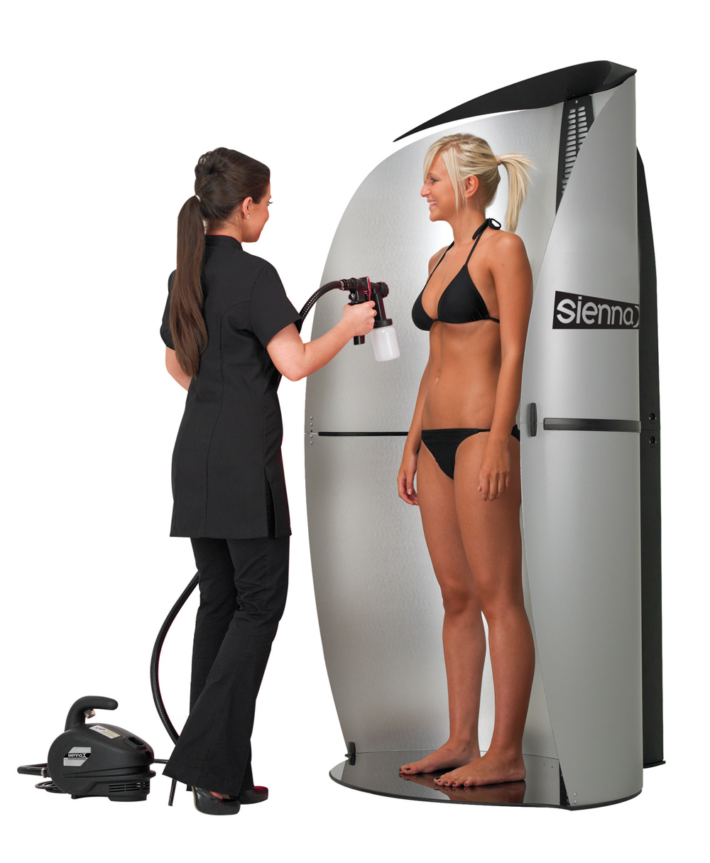 Spray tanning booth